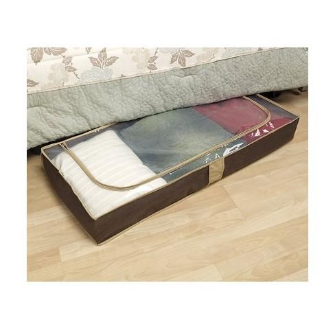 Household Essentials Under Bed Storage Chest - Brown : Targ
