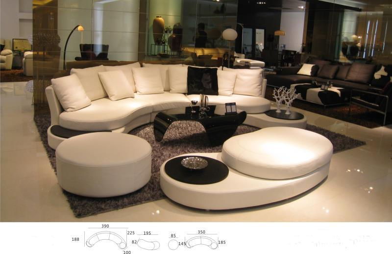Unique real cow Leather Sofa Living Room Sofa Set Modern Leather .
