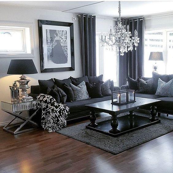 100 Modern Home Decor Ideas | Dark living rooms, Living room grey .