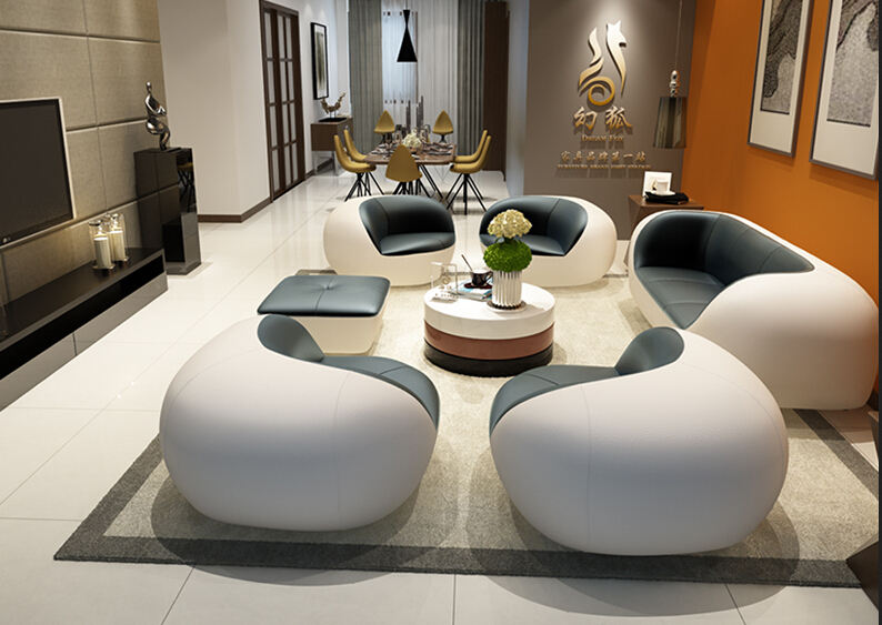 Stylish Unique Living Room Leather Sofa Set For Modern Foshan 25 .