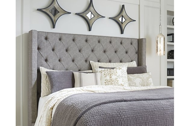 Sorinella Queen Upholstered Headboard | Ashley Furniture HomeSto