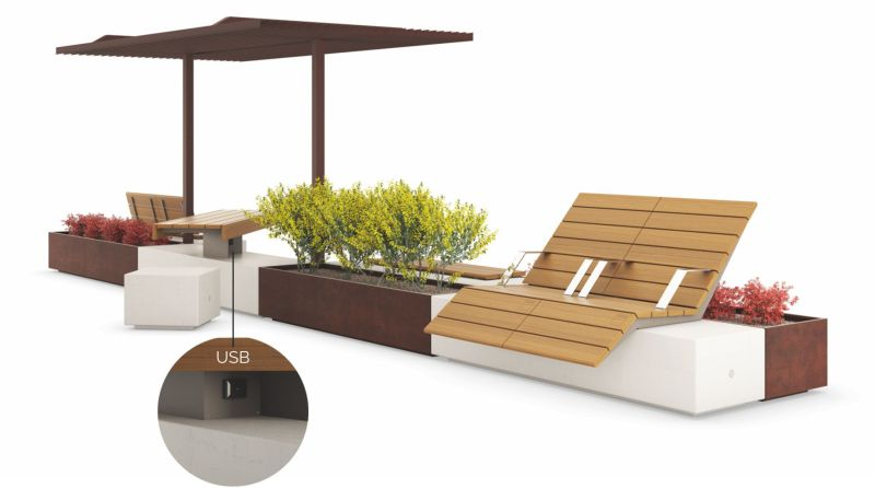 Metalco's modular urban furniture creates perfect urban environme