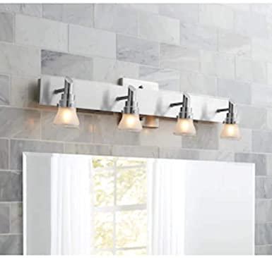 Portfolio 4-Light Brushed Nickel Standard Bathroom Vanity Light .