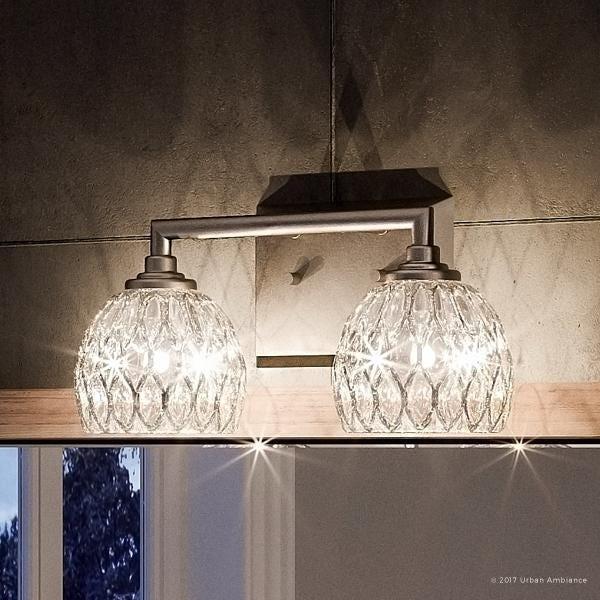 "Shop Luxury Crystal Bathroom Vanity Light, 6.25""H x 12.5""W, with ."