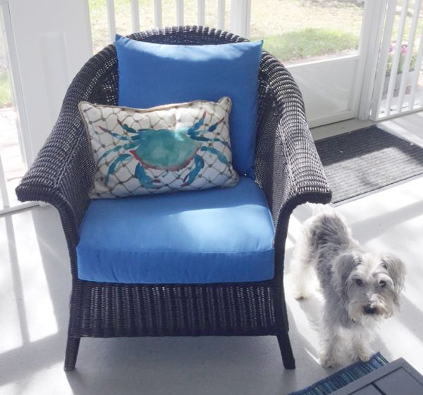 Custom Cushion Set in Vibrant Sunbrella Canvas Capri Revives Patio .