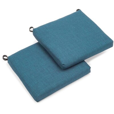 Blazing Needles 2-Piece Sea Blue Patio Chair Cushion at Lowes.c