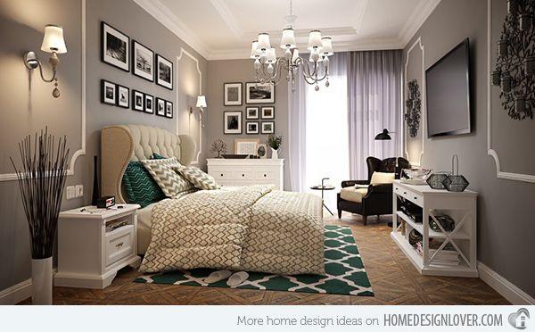 15 Modern Vintage Glamorous Bedrooms | Modern vintage bedrooms .