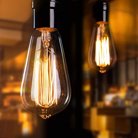 Amazon.com: Minetom Vintage Edison Light Bulbs 6Pcs E26 Base .