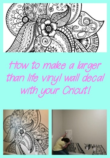 How to create a large vinyl wall decal with your Cricut .
