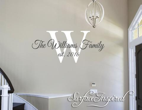 Family Name Wall Decal - Personalized Family Wall Decal Name .