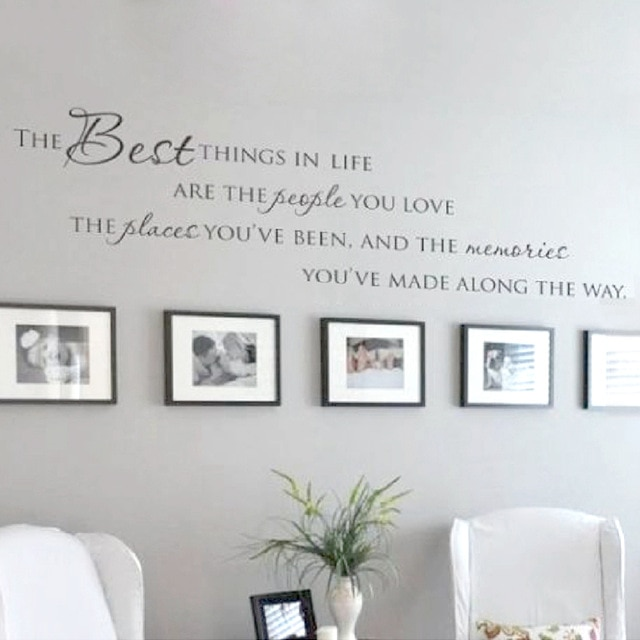 The Best Things In Life Vinyl Quote wall decals-Free Shipping .