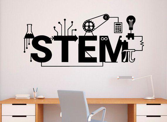 STEM Wall Decal Vinyl Sticker Science Technology Art Design School .