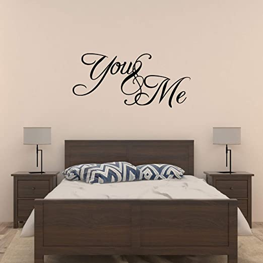 Amazon.com: You and me bedroom Vinyl Wall Decal Sticker Quote Art .