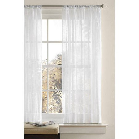 Better Homes & Gardens Crushed Voile Curtain Panel - Walmart.com .