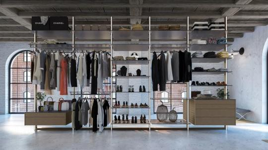 Modular walk-in closet system by Portapivot | Walk-in wardrobes .