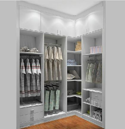 Walk in wardrobe ideas … | Corner wardrobe, Bedroom closet design .