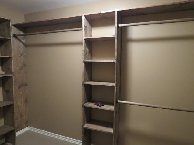 Walk-in closets: No more living out of laundry baskets! | Diy walk .