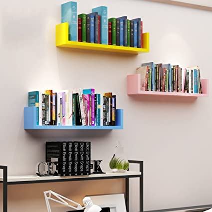 Amazon.com: Wall Mount Shelf,Decorative Wall Book Shelf Set .