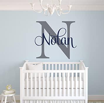 Amazon.com: Custom Name Monogram Wall Decal - Nursery Wall Decals .