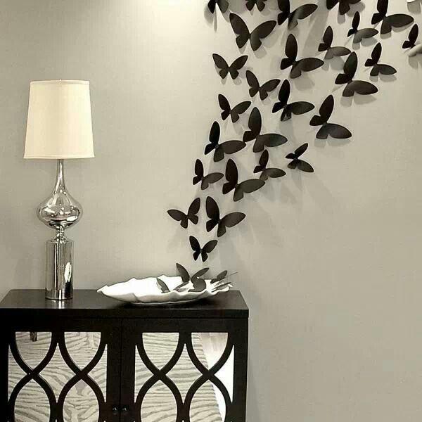 Butterfly wall decor set | Diy wall decor, Diy room decor .