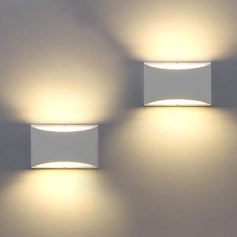 2 Pack Modern Wall Sconce, Sobrovo Indoor Wall Lights Uplighter .