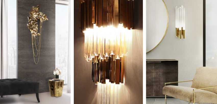 Luxury design: wall lights by Luxxu to create a glamorous dec