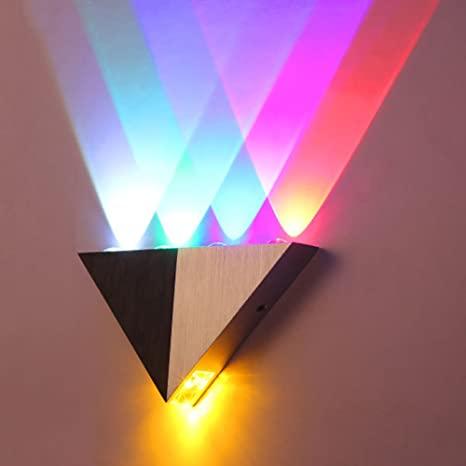 Lemonbest Modern Triangle 5W LED Wall Sconce Light Fixture Indoor .