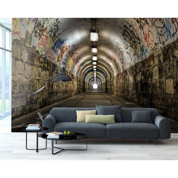 Brewster Graffiti Tunnel Wall Mural WR50554 - The Home Dep