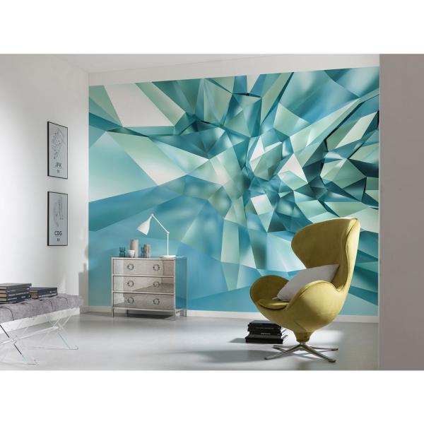 Komar Abstract 3D Crystal Cave Wall Mural 8-879 - The Home Dep
