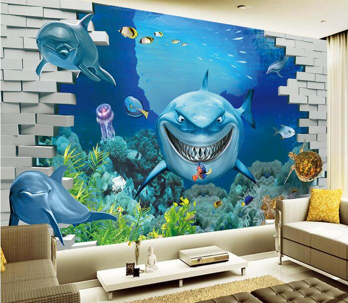 3d wallpaper custom mural non woven 3d room wallpaper undersea .