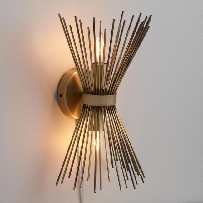 Brass Starburst Logan Wall Sconce | World Mark