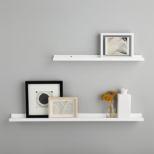 White Ledge Wall Shelves | The Container Sto