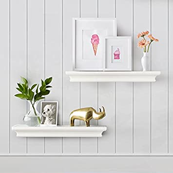 Amazon.com: AHDECOR Floating Shelves Ledge Shelf White (4 Inches .