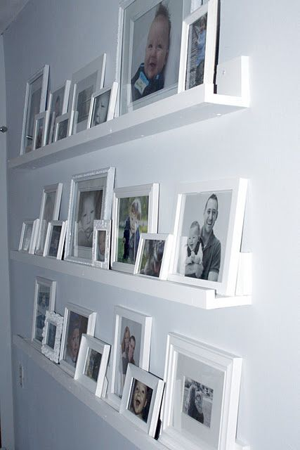 Gallery Wall Shelves Completed (With images) | Gallery wall .