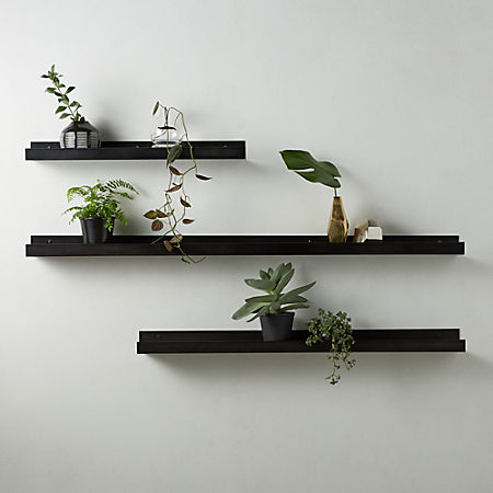 gunmetal metal wall ledge | C