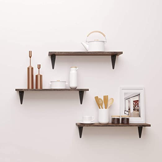Amazon.com: BAMFOX Floating Shelves,Wall Shelf Set of 3,Wall .
