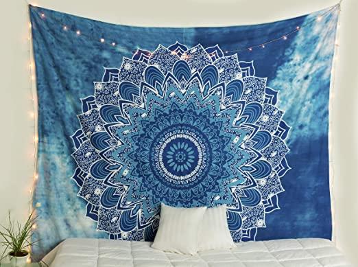 Amazon.com: Popular Handicrafts Kp842 Hippie Mandala Tapestry .