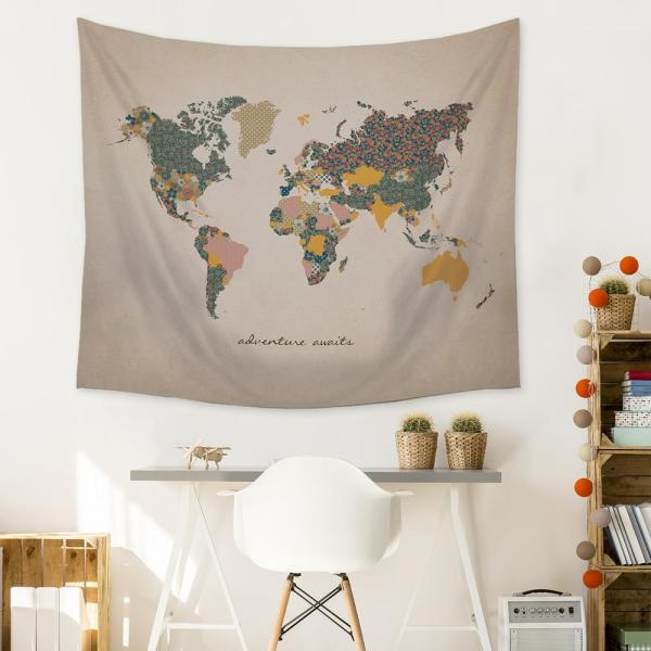 "Stratton Home Decor ""Adventure Map"" Wall Tapestry S07749 - The ."