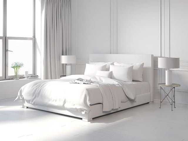 54 Amazing All-White Bedroom Ideas - The Sleep Jud