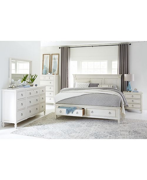 Furniture Sag Harbor White Bedroom Furniture Collection, 3 Piece .