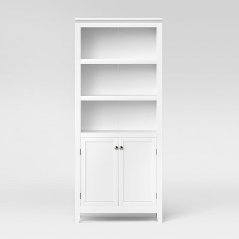 "Carson 72"" Shelf Bookcase With Storage White - Threshold™ : Targ"