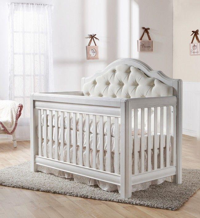 Pali Cristallo Forever Crib Vintage White | Baby crib designs .