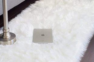 Amazon.com: JTL Floorings White Fur Rug, Faux Sheepskin Rug for .