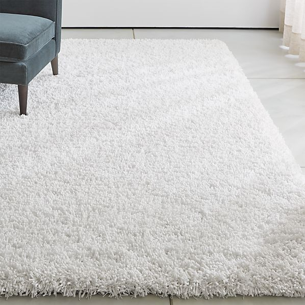 Memphis White Shag Rug | Crate and Barr