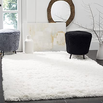 Amazon.com: Safavieh Polar Shag Collection PSG800B Area Rug, 9' x .