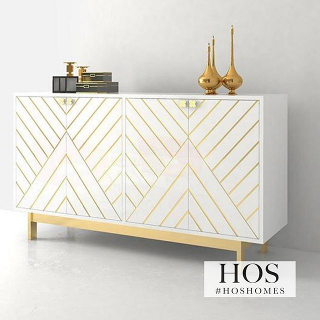 NEW The Miami White and Gold Sideboard Only 599.99!! Interest Free .