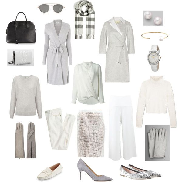 Cozy Grey-White Capsule Wardrobe by glendapearl on Polyvore .