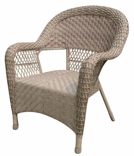 Backyard Creations® Stratton Wicker Stack Patio Chair at Menards