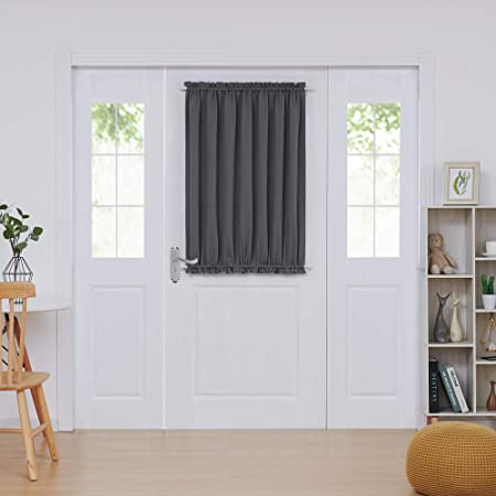 Amazon.com: Deconovo Door Curtains Thermal Insulated Blackout .