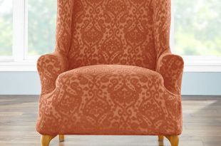 BH Studio Ikat Stretch Wing Chair Slipcover| Wing & Arm Chair .